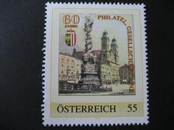 Personalisierte Marke Postfrisch, Linz 60 Jahre Phil. Gesellschaft - Österreich