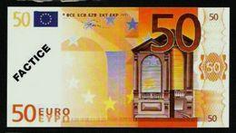 "Test Note ""POSTE FRANCE"" 50 EURO, Typ B Ser.-no 12345678900, Factice, RRRR, UNC - EURO"