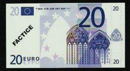 "Test Note ""POSTE FRANCE"" 20 EURO, Typ B Ser.-no 012345678900, Factice, RRRR, UNC - EURO"
