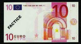 "Test Note ""POSTE FRANCE"" 10 EURO, Typ B Ser.-no 012345678900, Factice, RRRR, UNC - EURO"