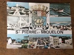 Saint Pierre Et Miquelon Belle Carte Semi Moderne Avec Diverses Multi Vues Voir Carte Recto Verso - Saint-Pierre-et-Miquelon