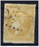 France: Yv Nr 43 B  Obl./Gestempelt/used Cachet Has A Thin Spot - 1870 Bordeaux Printing