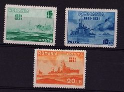 RO 637 - ROUMANIE N° 419/21 Neufs* Cinquantenaire De La Marine - Ungebraucht