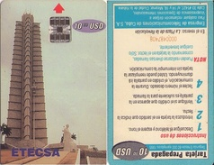 TARJETA TELEFONICA DE CUBA (LA PLAZA DE LA REVOLUCIÓN) (REVERSO INVERTIDO) (350) - Cuba
