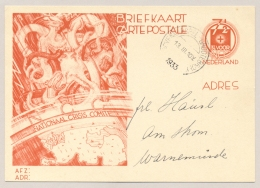 Nederland - 1933 - 7,5+ 3,5 Cent Nationaal Crisis Comité, Briefkaart G235 Van Bovenkarspel-Grootebroek Naar Warnemunde - Material Postal