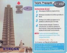 TARJETA TELEFONICA DE CUBA (LA PLAZA DE LA REVOLUCIÓN) (351) - Cuba
