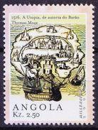1516 Thomas More Book Utopia, Fictional Island In Atlantic Ocean, Angola 2000 MNH Millennium - Stamps