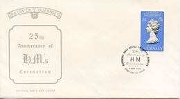 GUERNSEY - 1978 The 25th Anniversary Of The Coronation Of H.M. Queen Elizabeth II  FDC793 - Guernsey