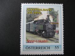 PM 8024139 Steyr Lokalbahnhof,120 Jahre Steyrtalbahn Postfrisch - Österreich