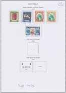 Guatemala 1939 Scott 292-295 Mint Hinged, 296 Used - Guatemala