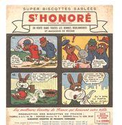 Buvard Biscotte St Honoré Série Pinpin Et Goupyl Buvard N°41 à 44 Déssiné Par J.L. Pesch - Biscottes