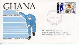 GHANA  - 1992 Olympic Games - Albertville, France And Barcelona, Spain - Past Medal Winners  FDC796 - Ghana (1957-...)