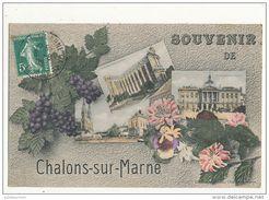 51 CHALONS SUR MARNE SOUVENIR MULTIVUE CPA BON ETAT - Châlons-sur-Marne