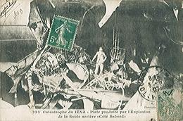 LE IEAN - Cuirassé - Catastrophe De 1907 - Plaie Produite Par L'explosion De La Soute Arrière - Carte Postée - Oorlog
