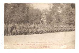 CPA Militaria 71 AUTUN 29 ème Ligne Active & Réserves Aux Excercices De Guerre 1ère Section 30è Cie 1914 - Guerre 1914-18