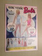 MATTEL  UNE VRAIE BARBIE  -  Pour  Collectionneurs ... PUBLICITE  Page De Revue Des Années 70 Plastifiée Par Mes Soins - Barbie