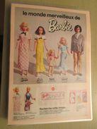 MATTEL  Le Monde Merveilleux De BARBIE   -  Pour  Collectionneurs ... PUBLICITE  Page De Revue Des Années 70 Plastifiée - Barbie