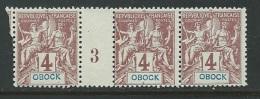 Obock     Yvert N°  34 (*) Bande De 3 Millesime 3  -   Bce10007 - Unused Stamps