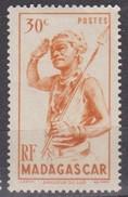 Madagascar, 1946 - 30c Southern Dancer - Nr.270 MLH* - Madagascar (1960-...)
