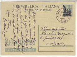 Italy Italia 1953 Intero Cartolina Postale Leocrema Sant'Agostino Ferrara - 1946-.. République