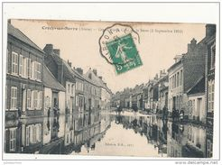 02 CRECY SUR SERRE GRAND RUE CRUE DE LA SERRE 2 SEPTEMBRE 1913 - Andere Gemeenten