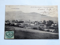 C.P.A. 64 ASCAIN : Vue Générale Et La Rhune, En 1907 - Ascain