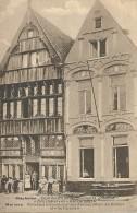 """Mechelen Malines Oude Huizen Op De Havermarkt, Genaamd """" Den Duivel """" En """" Het Paradijs """" - Malines"""