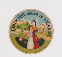 étiquette De Fromage:  Camembert : Fabriqué En Touraine - Formaggio