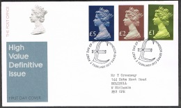 RB 1172 - GB 1977 - Large Machins Stamps £1 - £5 FDC First Day Cover - Windsor Cancel - FDC