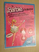 MATTEL  BARBIE BALLERINE   -  Pour  Collectionneurs ... PUBLICITE  Page De Revue Des Années 70 Plastifiée Par Mes Soins - Barbie