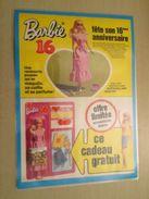 MATTEL  BARBIE 16e ANNIVERSAIRE   -  Pour  Collectionneurs ... PUBLICITE  Page De Revue Des Années 70 Plastifiée Par Mes - Barbie
