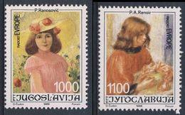 Jugoslavija Yugoslavia 1988 Mi 2300 /1 YT 2183 /4 ** Painting / Gemälde By Petar Ranosovic + Pierre-Auguste Renoir - Kunst
