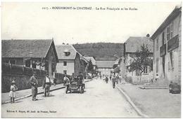 D90 . CPA . ROUGEMONT Le CHATEAU   . TB Animation + Au Dos CORRESPONDANCE MILITAIRE 1917 . - Rougemont-le-Château