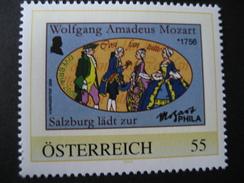 Personalisierte Marke Postfrisch, Salzburg Lädt Zur Mozart Phila - Personalisierte Briefmarken