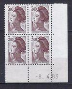 """FR Coins Datés YT 2243 """" Liberté 3F00 Brun-violet """" Neuf** Du 8.4.83 - 1980-1989"""