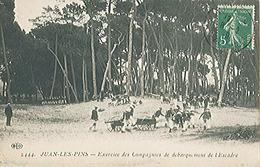 JUAN LES PINS (06) Exercice Des Compagnies De Débarquement De L'Escadre - Carte Postée Dos Vert - France
