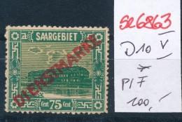 Saar  Nr.  D10 V  * (se6863 ) Siehe Scan ! - Dienstmarken
