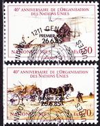 UN Genf  Geneva Geneve - 40 Jahre UNO (MiNr: 133/4) 1985 - Gest Used Obl - Usati