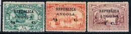Angola, 1912, # 126/8, MH - Angola