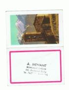 Petit Calendrier - Quincaillerie / Pêche A. MENANT  à NANTES 1966 (2 Fois ) Et 1968 - (fr55) - Calendriers
