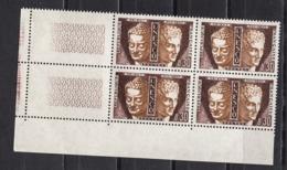 FRANCE 1960 / 1963 - BLOC DE 4 TS Y.T. N° 24 COIN DE FEUILLE - NEUFS** - Service