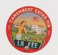 étiquette De Fromage:  Camembert :  La  Fée , Vienne  86 , Poitou - Fromage