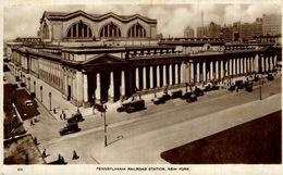 Real Photo Postcard   PENNSYLVANIA RAILROAD STATION NEW YORK - New York City