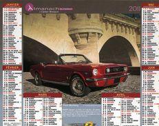 Calendrier Almanach La Poste 2011 Voitures Anciennes Rétro Ford Mustang Et Austin Healey - Calendriers
