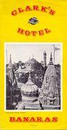 Brochure Dépliant Toerisme Tourisme - Clark's Hotel - Banaras India - Dépliants Touristiques