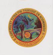 étiquette De Fromage:  Camembert : Orne , Damigny , Pont  Du  Fresne , Lune Arbre - Formaggio
