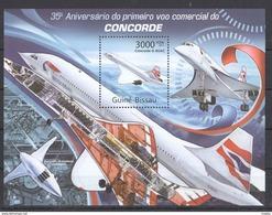 P950 2011 GUINE-BISSAU AVIATION CONCORDE 1BL MNH - Concorde