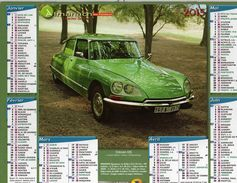 Calendrier Almanach La Poste 2015 Voitures Anciennes Rétro Citroën DS Et Citroën 11 CV 1955 - Calendriers