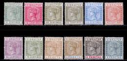 Gibraltar 1889-1896 MH Set SG 22/33 Cat £225 - Gibraltar