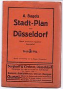 Brochure Dépliant Toerisme Tourisme - Stadt Plan Dusseldorf - Mit Werbung -  Reclame Pub - Europe